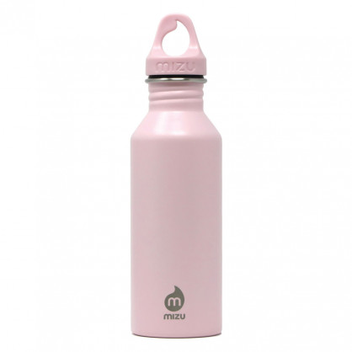 Trinkflasche 0,5 L aus Edelstahl in rosa von MIZU Design! Modell M5 soft pink.