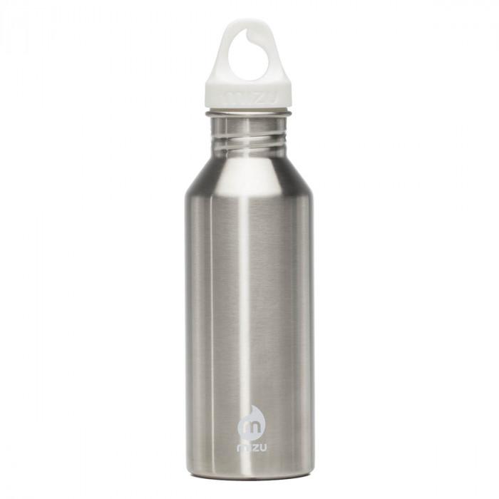 M5 Trinkflasche aus Edelstahl von MIZU Design - Variante steel - 0,5 Liter