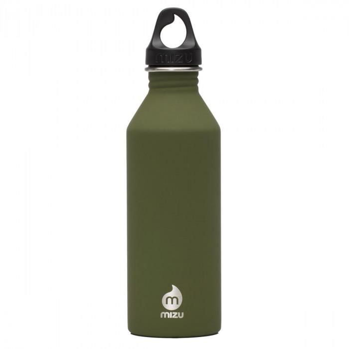 Edelstahl Trinkflasche M8 Enduro in army green von MIZU Design.