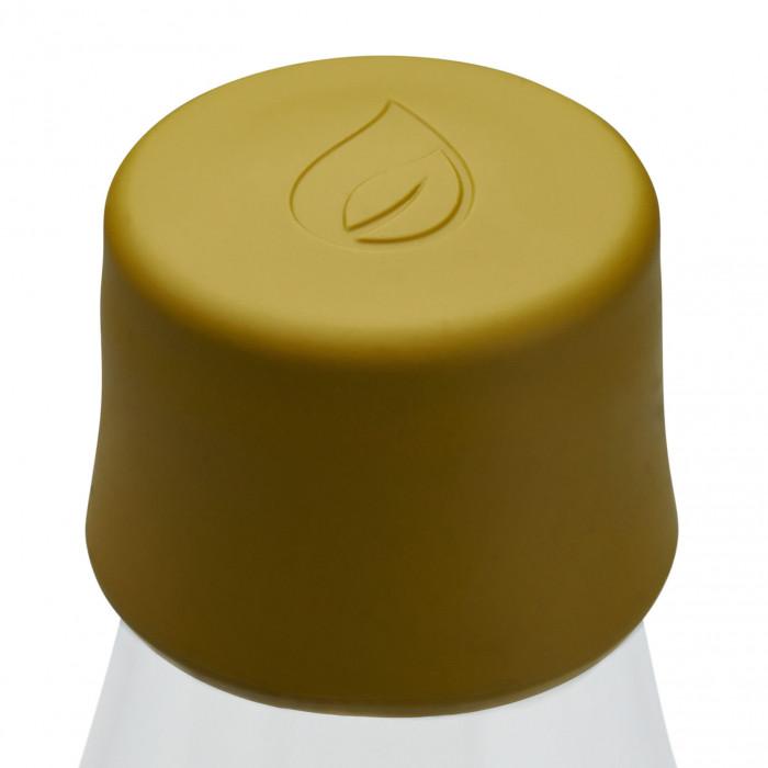 Ersatzdeckel für Retap Trinkflaschen. Kunststoffdeckel aus Silikon in mustard yellow ( senfgelb ) - Für Retap Glasflaschen 0,3 l, 0,5 l und 0,8 l.