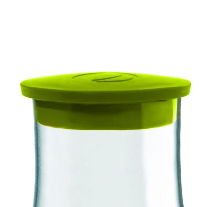 Grüner Ersatzdeckel für die 1,2 l Glaskaraffe von Retap. Karaffen-Deckel forest green. Aus phtalat- und BPA-freiem TPE-Kunststoff.