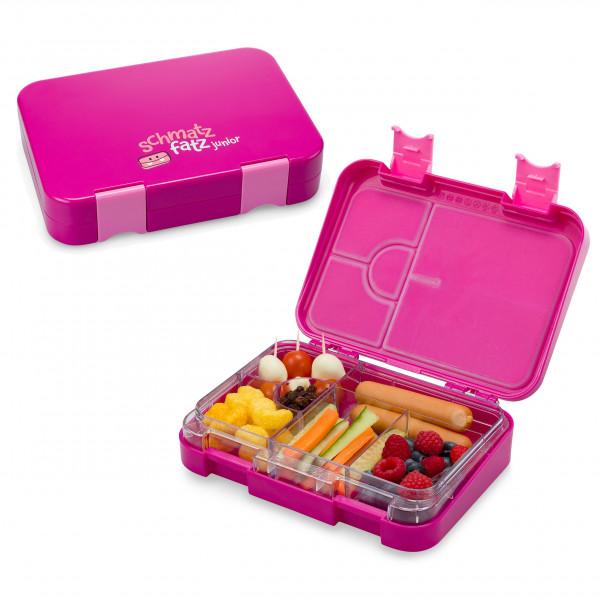 Lunchbox für Kinder! Die schmatzfatz Kinderlunchbox in lila (violett) variablen Fächern - 6 Fächern / 4 Fächern - BPA frei, auslaufsicher, robust ...
