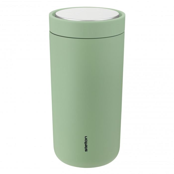 Vaccuum To Go Click Becher seagrass (pastell grasgrün) von Stelton Design. Thermobecher 0,4 l mit Druckverschluss.