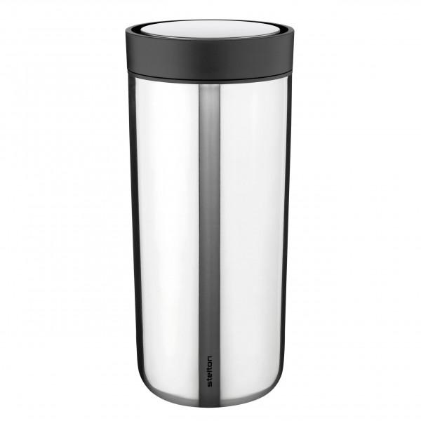 Click to go Becher - doppelwandiger Thermobecher 0,5 L (500 ml) aus Edelstahl von Stelton Design - Vacuum To Go Click