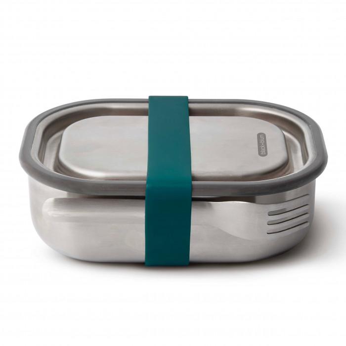 Lunchbox Edelstahl mit Gabel 0,6 l ocean blau