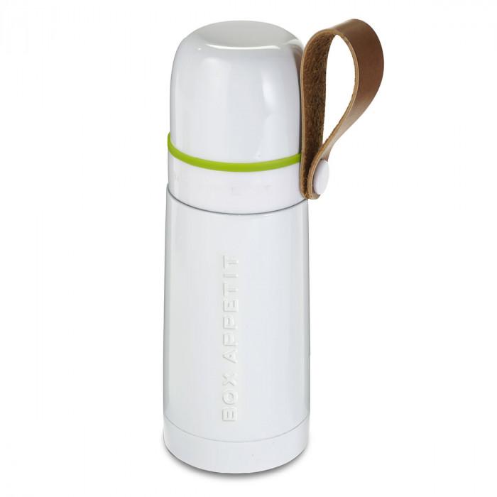 Thermosflasche in weiß mit Trageschlaufe - BOX APPETIT - black+blum