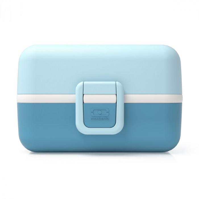 Kinderlunchbox für Jungen - MB TRESOR von monbento - Farbe blau - mit Klippverschluss - 3 Fächer