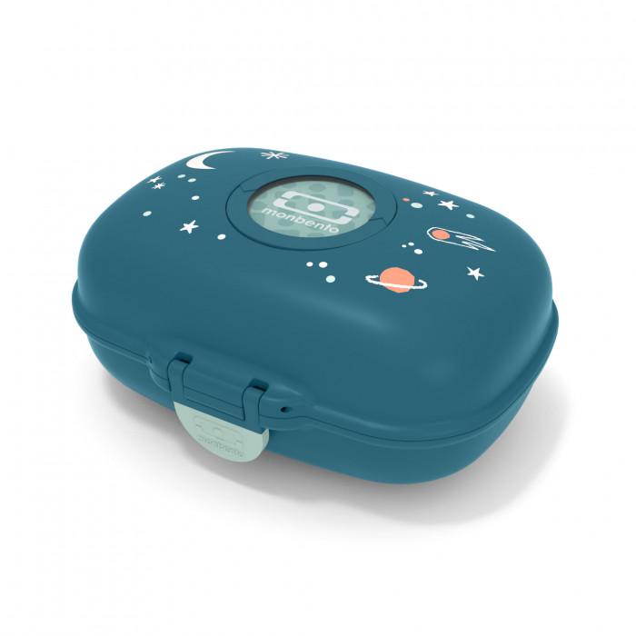 Die tolle Lunchbox cosmic blue für Jungs! Monbento Kinderluchbox dunkelblau mit Weltraum Motiv.