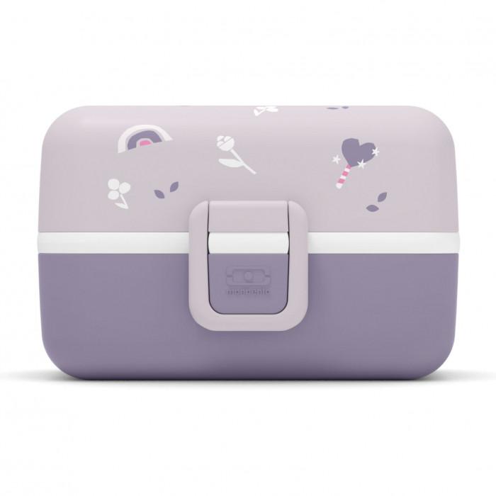 Lila Kinderlunchbox MB TRESOR von monbento. Lunchbox violett mit Fächern. Auslaufsicher, Unterteilungen, BPA-frei ... Lunchbox für Mädchen.