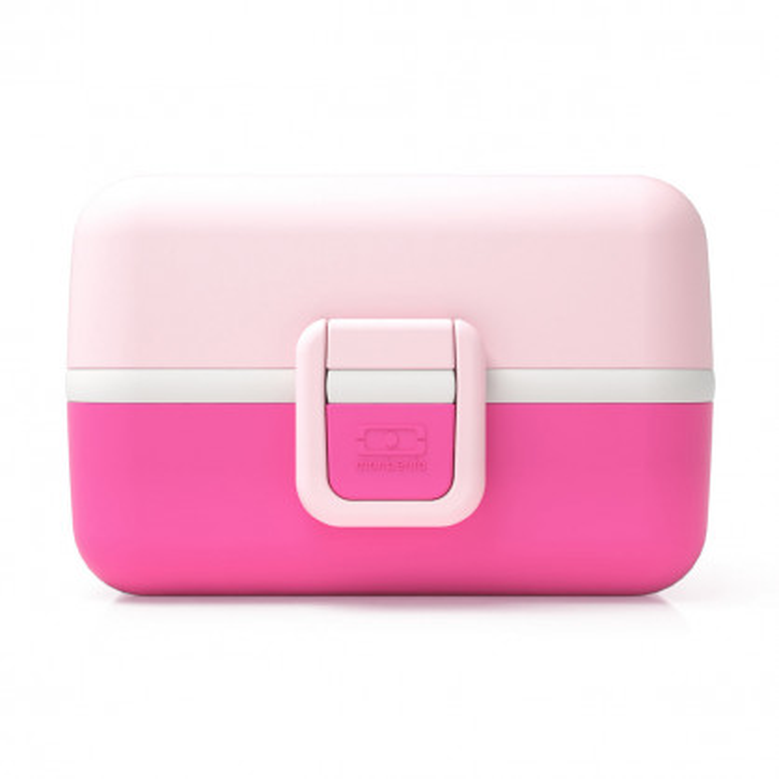 Kinderlunchbox MB TRESOR von monbento - Farbe rosa und pink - mit Klippverschluss - 3 Fächer - Mädchen Lunchbox