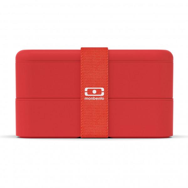 Genuss auf 2 Etagen! Die rote MB ORIGINAL Lunchbox Podium Red von monbento. Exklusive Design Kunststoff Lunchbox.