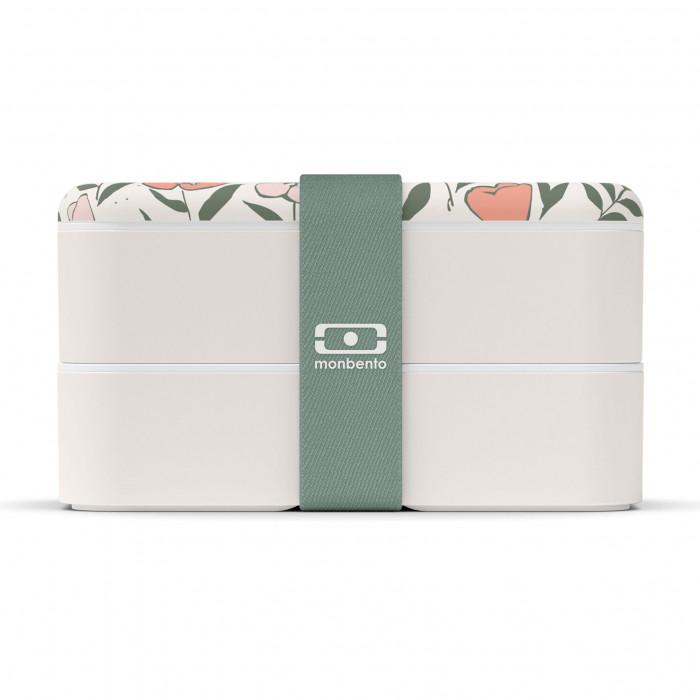 Auslaufsichere Lunchbox MB ORIGINAL graphic Bloom - Bento Box von monbento mit blumigen Motiv.
