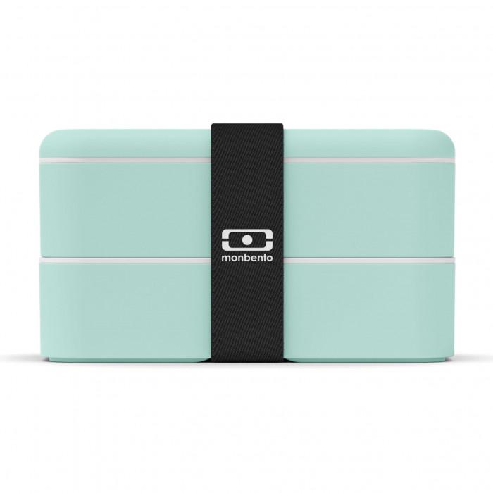 MB ORIGINAL matcha grün - Bento Box: auslaufsichere, zweistöckige Lunchbox von monbento. Design Lunchbox mintgrün.