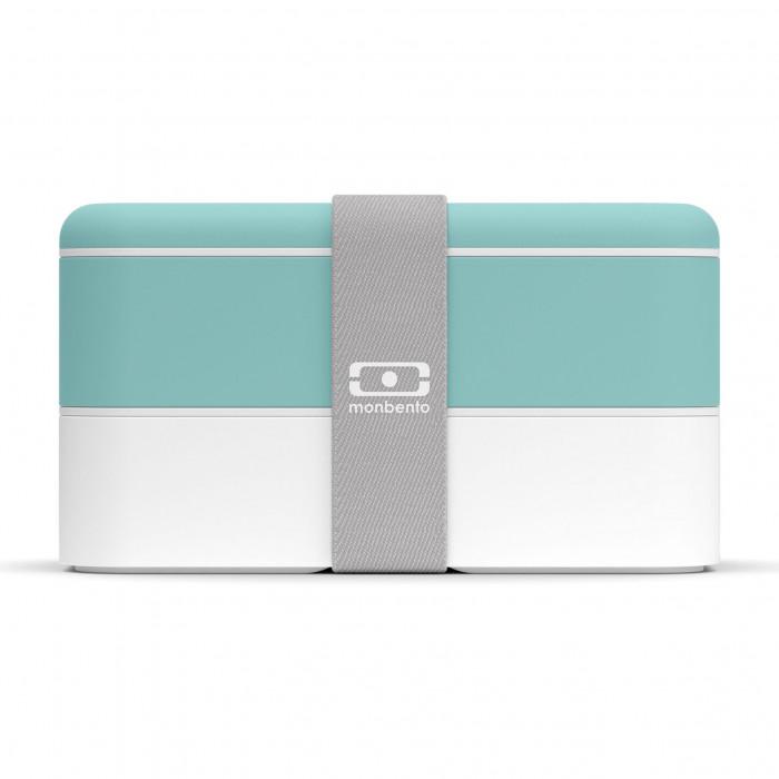 MB ORIGINAL Bento Box: auslaufsichere, zweistöckige Lunchbox mit Gummizugband von monbento. Design Lunchbox mintgrün..