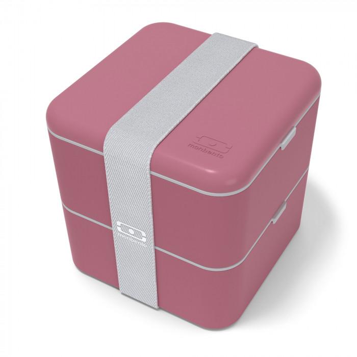 Lunchbox MB SQUARE blush. Rote Bento Box von monbento. Design Lunchbox MB SQUARE (Beeren rot).