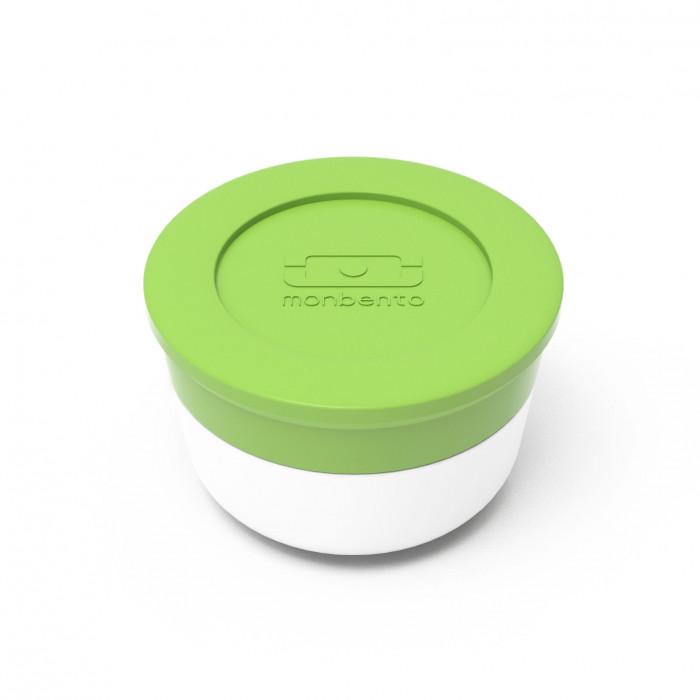 monbento Saucenbehälter MB TEMPLE M 28 ml, grün-weiß, Saucentöpfchen, Saucendöschen