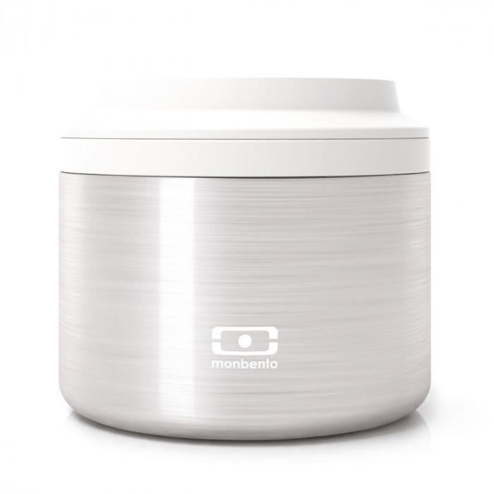 Der Isotherm Lunchpot MB ELEMENT von monbento: der solide, auslaufsichere Lunchbehälter aus Edelstahl mit Schraubdeckel.