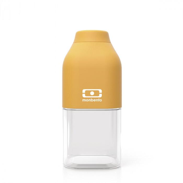 monbento Trinkflasche to-go MB POSITIVE S, 330 ml - Moutarde senfgelb - Kunststoff Trinkflasche - Kindertrinkflasche