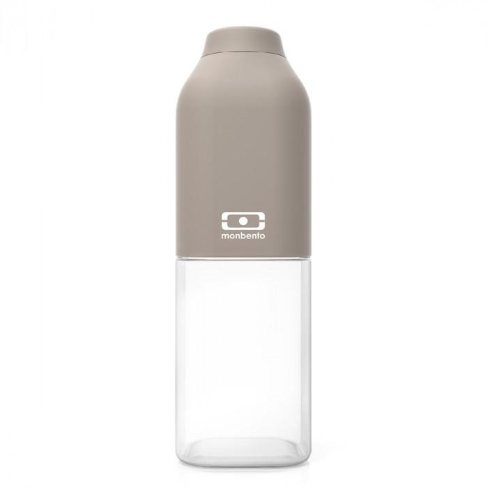 Trinkflasche to-go MB POSITIVE M von monbento, auslaufsicher, grau, Tritan Kunststoff, 500 ml
