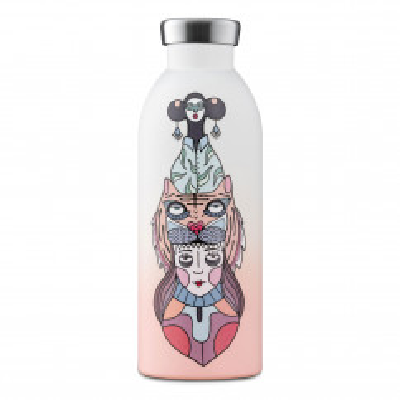 24 Bottles Thermosflasche CLIMA Edelstahl 500 ml, DIANA - by Elena Salmistraro. Doppelwandige Trinkflasche 0,5 l Salmistraro - Design Isolierflasche 24Bottles.