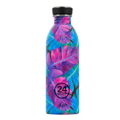 Trinkflasche Flower 0,5L URBAN aus Edelstahl von 24Bottles - Sonderedition