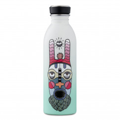 24Bottles Edelstahl Trinkflasche by Elena Salmistraro. 500 ml Trinkflasche Sakra. Auslaufsichere Metallflasche 0,5 Liter.
