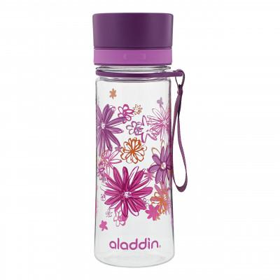 Superleichte und auslaufsichere Trinkflasche AVEO Flowers von aladdin design. Perfekt Schule und Büro.