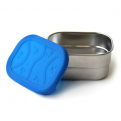Lunchdose klein aus Edelstahl mit Silikondeckel - SPLASH POD - EcoLunchbox