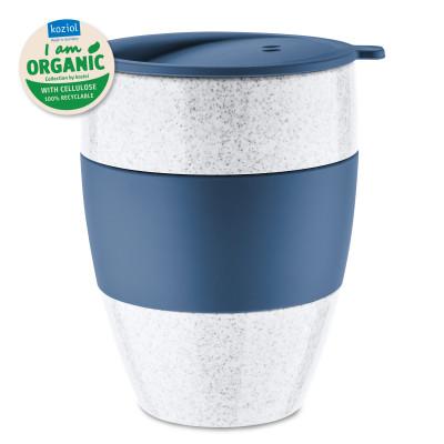 AROMA TO GO ORGANIC 2.0 - Coffee to go Becher 400 ml von Koziol. Kaffeebecher dunkelblau aus nachhaltigem Kunststoff.
