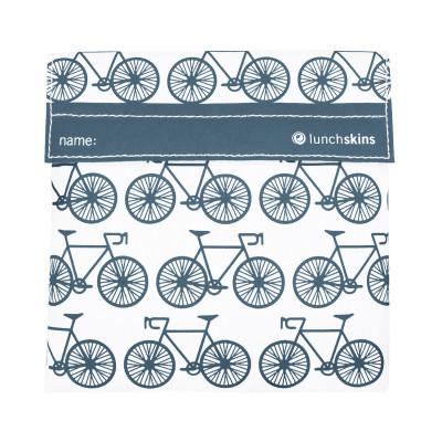 Lunchskin Bicycle, die wiederverwendbare Lunchtüte mit Klettverschluss, Fahrrad-Print