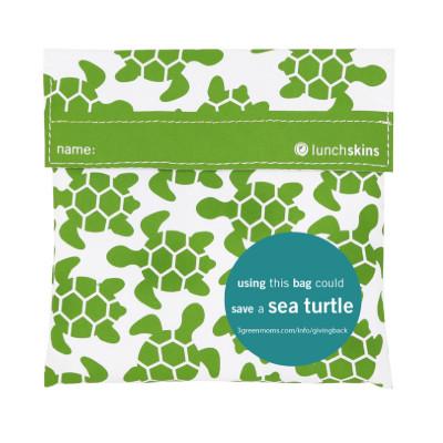 Lunchskin Turtle, die wiederverwendbare Lunchtüte mit Klettverschluss, Schildkröten-Print