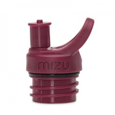 Sport Cap für MIZU Trinkflasche M4, M5 oder M8. Push & Pull Flaschenverschluss in dunkelrot.