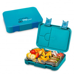 Lunchbox JUNIOR für Kinder 4/6 Fächer, petrolblau