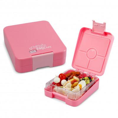 Kinderlunchbox easy von schmatzfatz in rosa. Auslaufsichere Lunchbox für Kinder mit vier Unterteilungen.