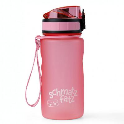 schmatzfatz Trinkflasche Kinder in rosa: 350 ml, 1-Klick-Verschluss, Fruchtsieb, auslaufsicher, BPA-frei und aus hochwertigem Tritan Kunststoff.