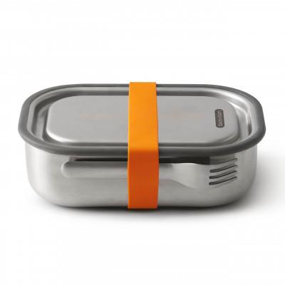 black and blum Lunchbox mit Gabel 1L, Edelstahl, auslaufsicher, orange, Serie Box Appetit