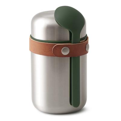 Lunchpot Thermo inkl. Löffel 400 ml Box Appetit, olive - dunkelgrün, black&blum, Food Flask