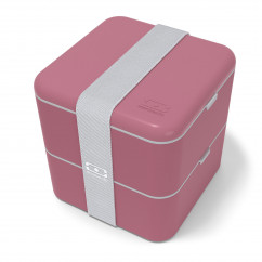 Lunchbox MB SQUARE blush. Rote Bento Box von monbento. Design Lunchbox MB SQUARE (Beeren rot).