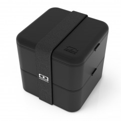 monbento MB SQUARE Lunchbox schwarz. Große Lunchbox - zweistöckig - BPA-frei ... black. Bento Box, Lunchdose, ...